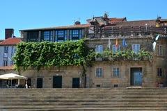 Το τετραγωνικό Obradoiro, Σαντιάγο de Compostela Στοκ φωτογραφία με δικαίωμα ελεύθερης χρήσης