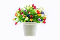 το τεχνητό λουλούδι ανασκόπησης απομόνωσε το λευκό Στοκ φωτογραφία με δικαίωμα ελεύθερης χρήσης