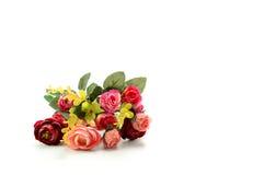 το τεχνητό λουλούδι ανασκόπησης απομόνωσε το λευκό Στοκ εικόνα με δικαίωμα ελεύθερης χρήσης