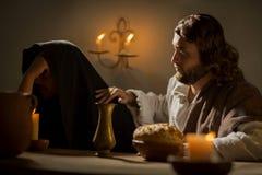 Το τελευταίο βραδυνό του Ιησούς Χριστού Στοκ Εικόνες