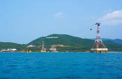 Το τελεφερίκ στο νησί. Βιετνάμ. Στοκ εικόνες με δικαίωμα ελεύθερης χρήσης