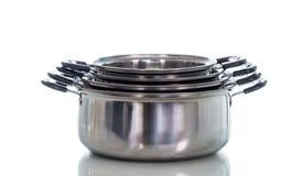 Το τηγάνι σάλτσας μη ραβδιών απομονώνει Στοκ Φωτογραφίες