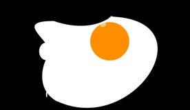 Το τηγανισμένο αυγό Στοκ εικόνα με δικαίωμα ελεύθερης χρήσης