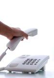 το τηλέφωνο παίρνει Στοκ φωτογραφία με δικαίωμα ελεύθερης χρήσης