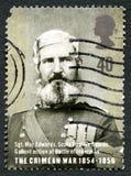 Το της Κριμαίας γραμματόσημο του πολεμικού UK Στοκ φωτογραφία με δικαίωμα ελεύθερης χρήσης