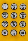 Το τηλέφωνο κλειδώνει τον αριθμό Στοκ Φωτογραφίες