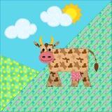 το τοπίο αγελάδων φαίνεται βουνό ετερόκλητο ελεύθερη απεικόνιση δικαιώματος