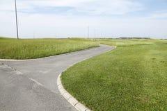 Το τοπίο γηπέδων του γκολφ Στοκ φωτογραφία με δικαίωμα ελεύθερης χρήσης