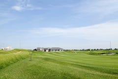 Το τοπίο γηπέδων του γκολφ Στοκ εικόνες με δικαίωμα ελεύθερης χρήσης
