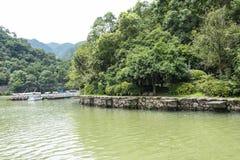 Το τοπίο μίγματος πυλών Jiangnan Drangen Στοκ Εικόνα