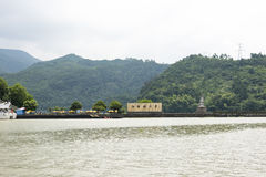 Το τοπίο μίγματος πυλών Jiangnan Drangen Στοκ εικόνες με δικαίωμα ελεύθερης χρήσης