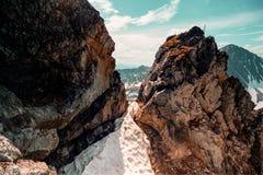 Το τοπίο Ουραλίων βουνά ural Τοπίο της Ρωσίας στοκ φωτογραφίες