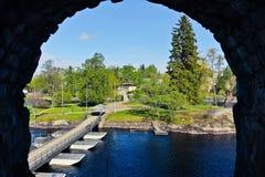 Το τοπίο στο παράθυρο Στοκ φωτογραφία με δικαίωμα ελεύθερης χρήσης