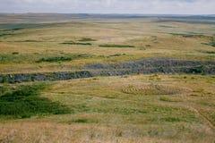 Το τοπίο της αρχαίας τακτοποίησης Arkaim Στοκ Εικόνες