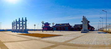 Το τοπίο του πολιτιστικού πάρκου Tianjin Mazu Στοκ Φωτογραφία