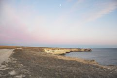 Το τοπίο του φάρου επάνω από τον ωκεανό Στοκ Φωτογραφία