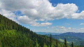 Το τοπίο των Καρπάθιων βουνών Στοκ Εικόνα