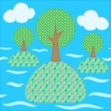 το τοπίο φαίνεται ετερόκλητα δέντρα ελεύθερη απεικόνιση δικαιώματος