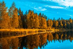 Το τοπίο Autunm, τελειοποιεί το τοπίο πτώσης Στοκ φωτογραφία με δικαίωμα ελεύθερης χρήσης