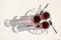 Το τουρκικό τσάι, τουρκικά τσάγια, υγιές τσάι, τουρκικό τσάι λεπταίνει ιδίως το γυαλί Στοκ εικόνα με δικαίωμα ελεύθερης χρήσης