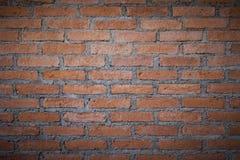 Το τούβλινο υπόβαθρο σύστασης τοίχων grunge με οι γωνίες, μπορεί να χρησιμοποιήσει στο εσωτερικό σχέδιο σαν εσωτερική διακόσμηση  Στοκ Φωτογραφία