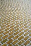 το τούβλο ακολουθεί το δρόμο κίτρινο Στοκ εικόνες με δικαίωμα ελεύθερης χρήσης