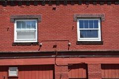το τούβλο απομόνωσε το κόκκινο λευκό Στοκ φωτογραφία με δικαίωμα ελεύθερης χρήσης