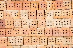 Το τούβλινο κτήριο είναι σημαντικό στην οικοδόμηση των τοίχων Στοκ φωτογραφίες με δικαίωμα ελεύθερης χρήσης
