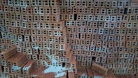 το τούβλο απομόνωσε το κόκκινο λευκό Στοκ φωτογραφίες με δικαίωμα ελεύθερης χρήσης