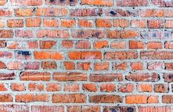 το τούβλο απομόνωσε το κόκκινο λευκό Στοκ Εικόνα