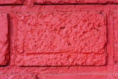 το τούβλο απομόνωσε το κόκκινο λευκό Στοκ Εικόνες