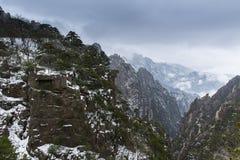 Τοπίο βουνών Huangshan Στοκ Εικόνες
