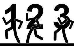 Το τρέξιμο αριθμών Στοκ φωτογραφία με δικαίωμα ελεύθερης χρήσης