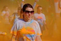 Το τρέξιμο 2017 χρώματος στο Βουκουρέστι, Ρουμανία στοκ φωτογραφία