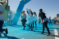 Το τρέξιμο χρώματος Στοκ φωτογραφίες με δικαίωμα ελεύθερης χρήσης