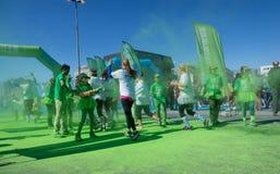 Το τρέξιμο χρώματος Στοκ φωτογραφία με δικαίωμα ελεύθερης χρήσης