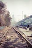 Το τραίνο και η πλατφόρμα Στοκ Φωτογραφίες