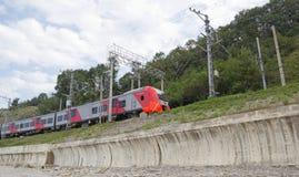Το τραίνο ` καταπίνει ` μαζικό επιχείρησης ακατέργαστου πετρελαίου σιδηροδρόμων τραίνο δεξαμενών της Ρωσίας ρωσικό Στοκ φωτογραφία με δικαίωμα ελεύθερης χρήσης