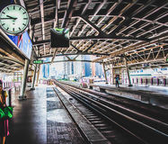 Το τραίνο ουρανού στοκ φωτογραφία