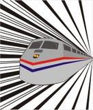 το τραίνο στην ταχύτητα Στοκ εικόνες με δικαίωμα ελεύθερης χρήσης