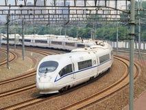 Το τραίνο σφαιρών αναχωρεί από το Πεκίνο, Κίνα Στοκ φωτογραφίες με δικαίωμα ελεύθερης χρήσης