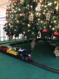 Το τραίνο Χριστουγέννων Στοκ Εικόνες