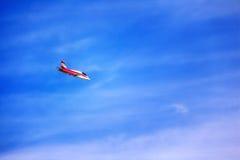 το τρισδιάστατο αεριωθούμενο αεροπλάνο illistration φαίνεται διάνυσμα ουρανού αεροπλάνων Στοκ Εικόνες