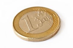 το τρισδιάστατο ευρώ που απομονώνεται αντιτίθεται ένα Στοκ Εικόνες