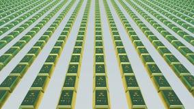 το τρισδιάστατο χρυσό HQ ράβδων δίνει εξαιρετικά απεικόνιση αποθεμάτων