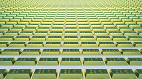 το τρισδιάστατο χρυσό HQ ράβδων δίνει εξαιρετικά διανυσματική απεικόνιση