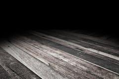 Το τροπικό υπόβαθρο πατωμάτων σανίδων ξύλινο, χλευάζει επάνω για την επίδειξη Στοκ Φωτογραφίες