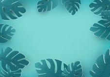 Το τροπικό υπόβαθρο φύλλων, οι θερινές εποχιακές διακοπές, το floral σχέδ διανυσματική απεικόνιση