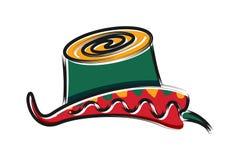 Το τσίλι και το καπέλο μεξικανός, λογότυπο tacos σχεδιάζουν την έμπνευση που απομονώνεται στο άσπρο υπόβαθρο ελεύθερη απεικόνιση δικαιώματος