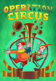 Το τσίρκο παρουσιάζει αφίσα Στοκ Φωτογραφίες